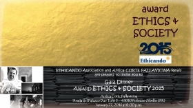 27.01.2016 - Award ETHICS & SOCIETY 2015 (su invito) - ETHICANDO Association