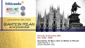 Event GIANTS IN MILAN - Sustainable Art - ETHICANDO Association